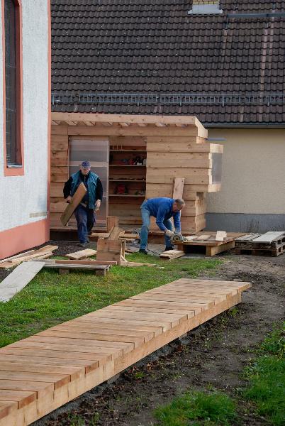 Nacharbeiten am Lustgang (Nov 2010) Foto: Holger Simmat