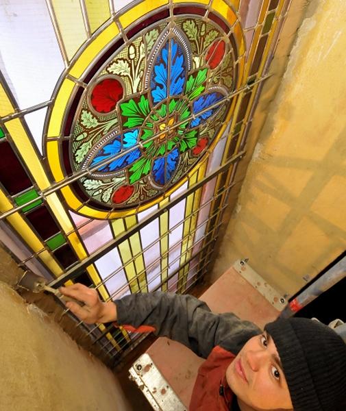 Fenstereinbau Kleinliebenau (2008) | Foto: Michael Strohmeyer