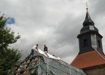 Dachabdeckung (2008) | Foto: Heike Sichting