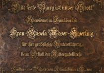 Kultur- und Pilgerverein dankt Frau Gisela Noser (2011) | Foto: Heike Sichting