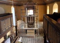 Das Gerüst zur Restaurierung des Kanzelaltars Foto.S.Adaschkiewitz . jpg