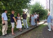 """Begehung der Jury für den den Landeswettbewerb """"Ländliches Bauen"""" (August 2013)   Foto: Heike Sichting"""