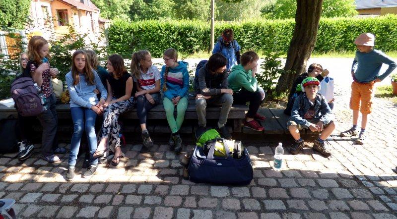 Pilgerschüler aus der Freien Alternativschule Dresden (Juni 2016) | Foto: Siegfried Adaschkiewitz