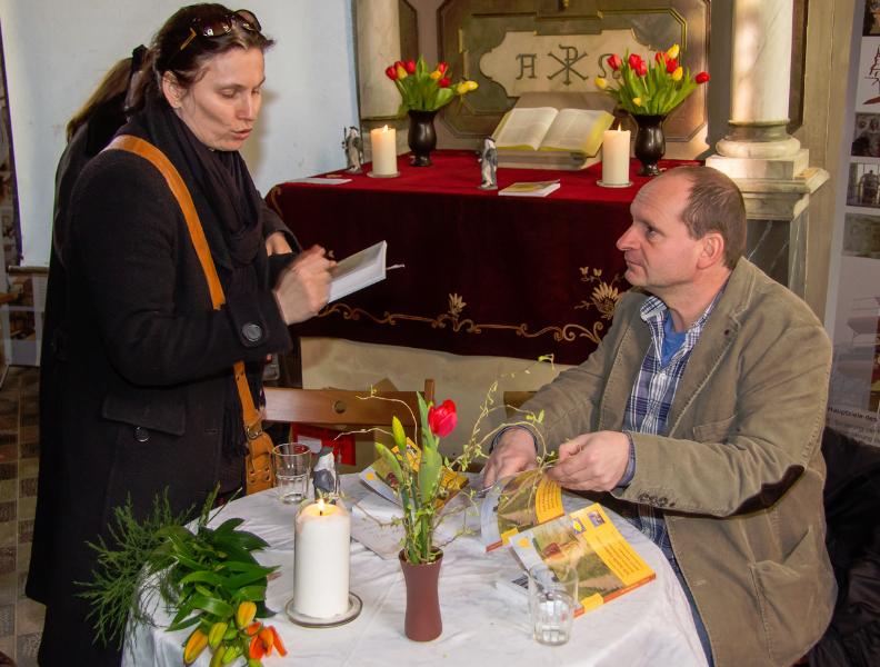 Lesung mit Thomas Nitzschke: Ich bleib lieber hier – Auf dem Jakobsweg durch Sachsen (17.03.2013) | Foto: Holger Simmat