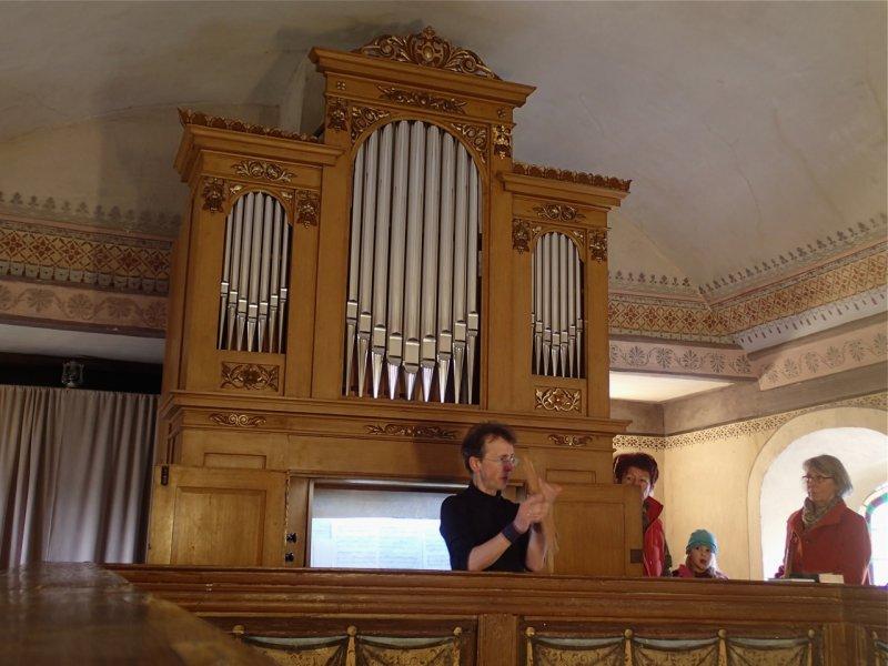 Orgelführung mit Wieland Meinhold (April 2016) | Foto: Heike Sichting