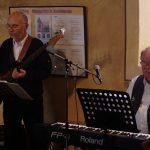 Leipziger All-Stars – Rudi Otto (Bass), Peter Zwirnmann (Piano, Gesang). (Mai 2019) | Foto: Heike Sichting