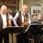 Leipziger All-Stars (Ralf Rohr (Trompete), Udo Gaunitz (Saxophon), Karl-Heinz Rath (Schlagzeug, Gesang). (Mai 2019 | Foto: Heike Sichting