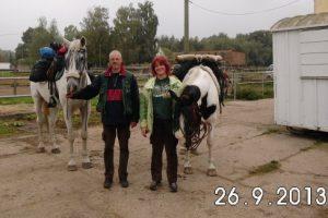 Pilgerpferde Luna und Culano (2013) Foto S.Adaschkiewitz