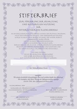 Stiftung - Stifterbrief
