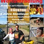Grenzenlos Weltumradlung Plakat  - Gisela und Wilfried Hofmann